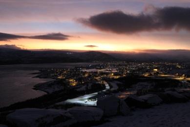 Mountain views of Båtsfjord